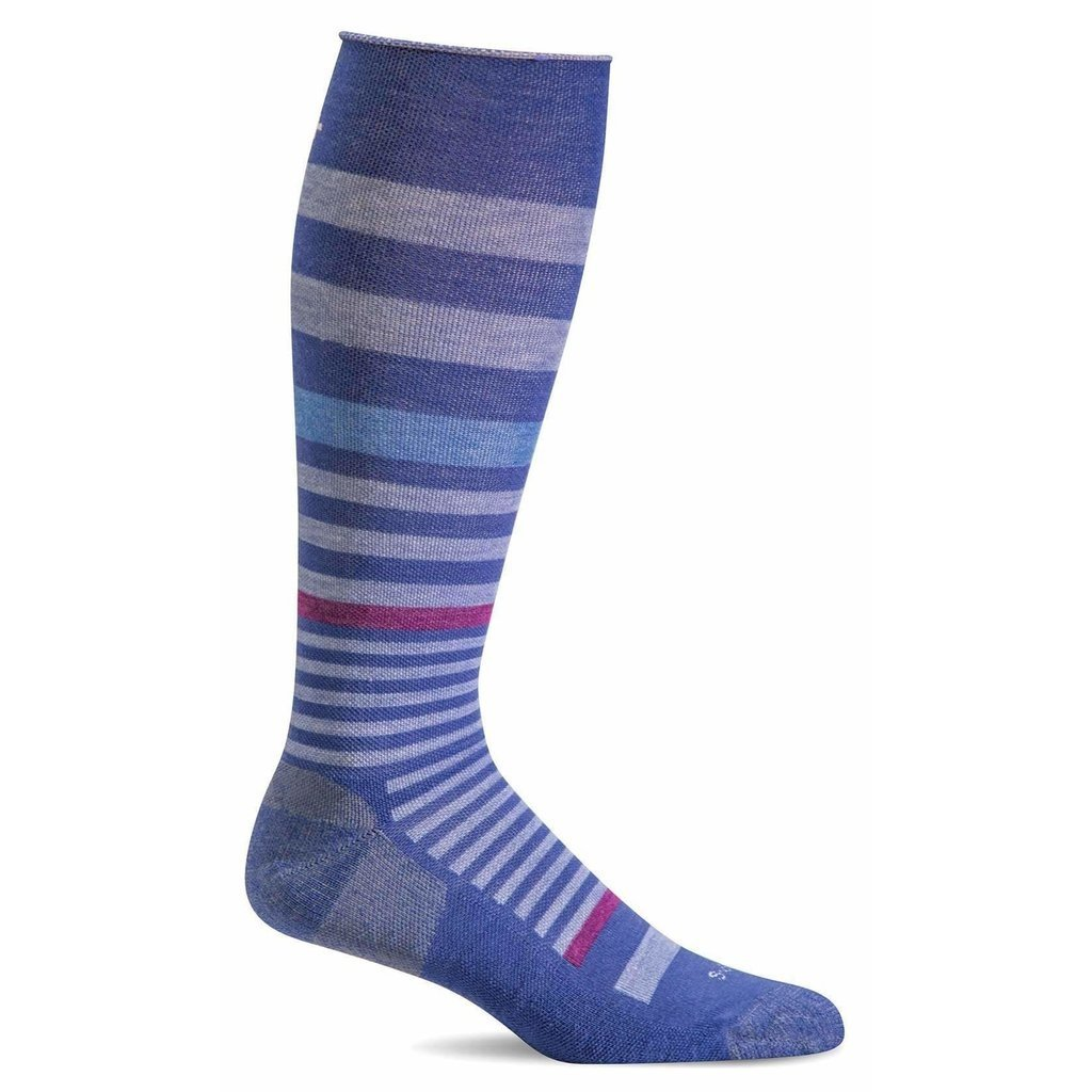 Compression Socks Women's Orbital Stripe Hycinth Medium/Large