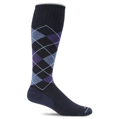 Compression Socks Men's Argyle Navy Large/Extra Large