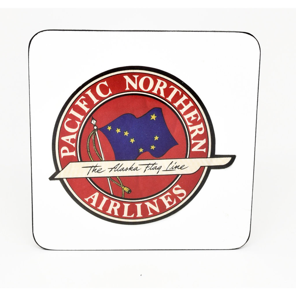 Pacific Northern Airlines Vintage Coaster-Disc.