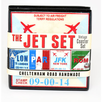 The Jet-Set Vintage Coaster set