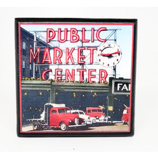 Visit Seattle Vintage Coaster Set