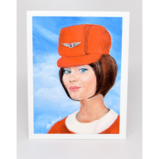 Stewardess Style United Airlines 1968 All Her Bags Are Packed