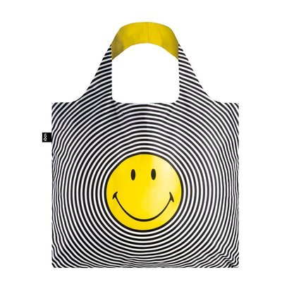 Reusable Tote Bag Smiley Spiral