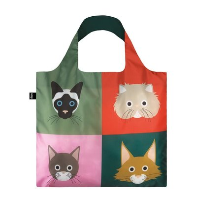 Reusable Tote Bag Cats