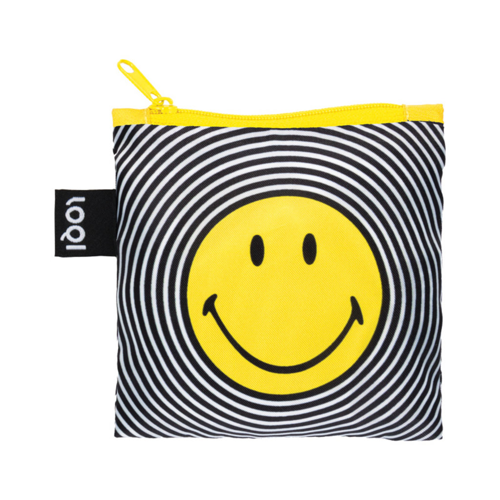 Reusable Tote Bag Smiley Spiral