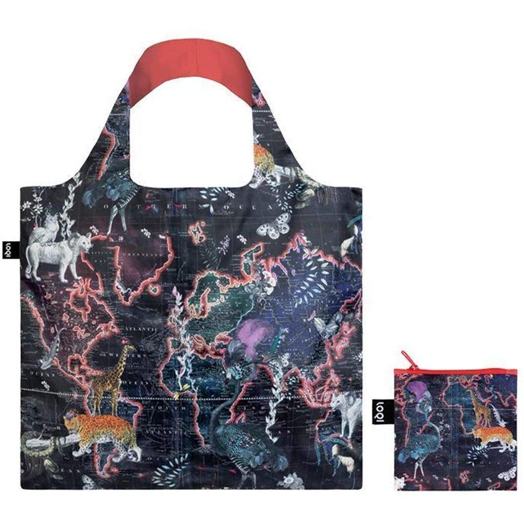 Reusable Tote Bag  World Map