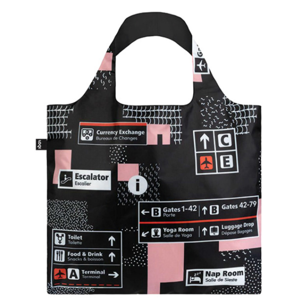 Reusable Tote Bag Airport Icons
