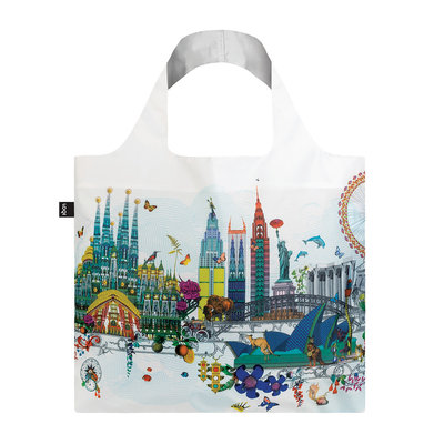 Reusable Tote Bag World Skyline