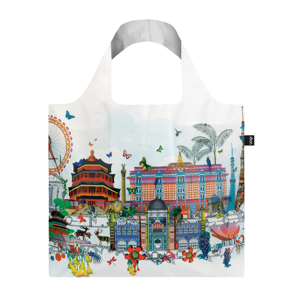 Reusable Tote Bag  World Skyline
