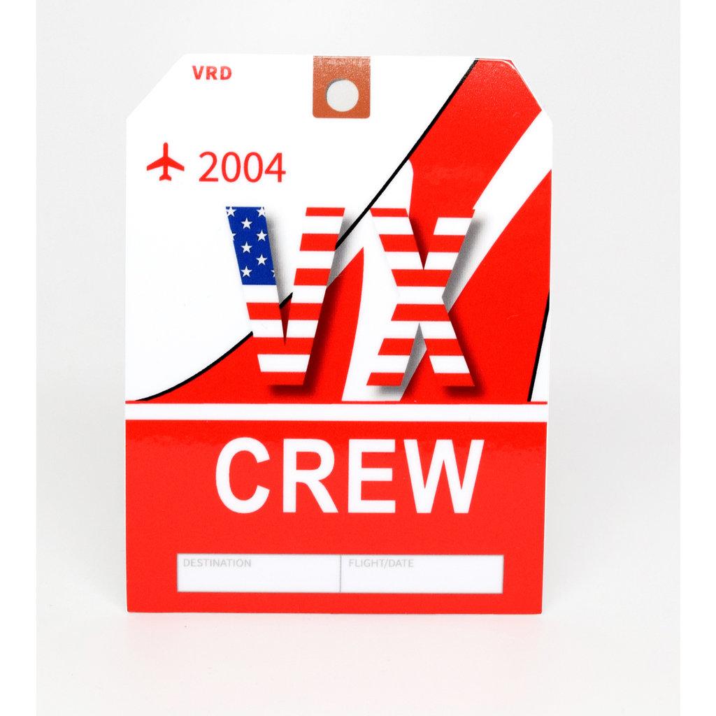 VX CREW Baggage Tag Die-Cut Sticker