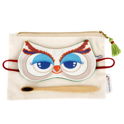 Owl Sleep Mask & bamboo toothbrush