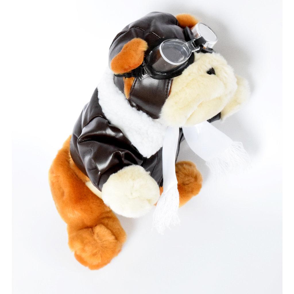 Aviator Plush Bulldog