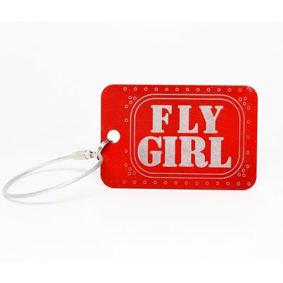Fly Girl Bag Tag Key Chain-Red