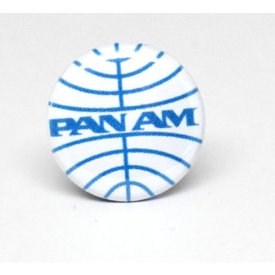 Pinback Button Pan Am White