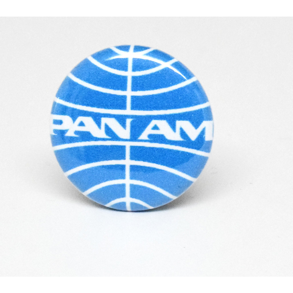 Pinback Button Pan Am Blue