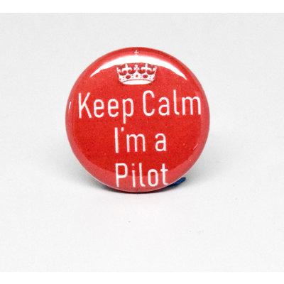 Pinback Button Keep Calm I'm a Pilot