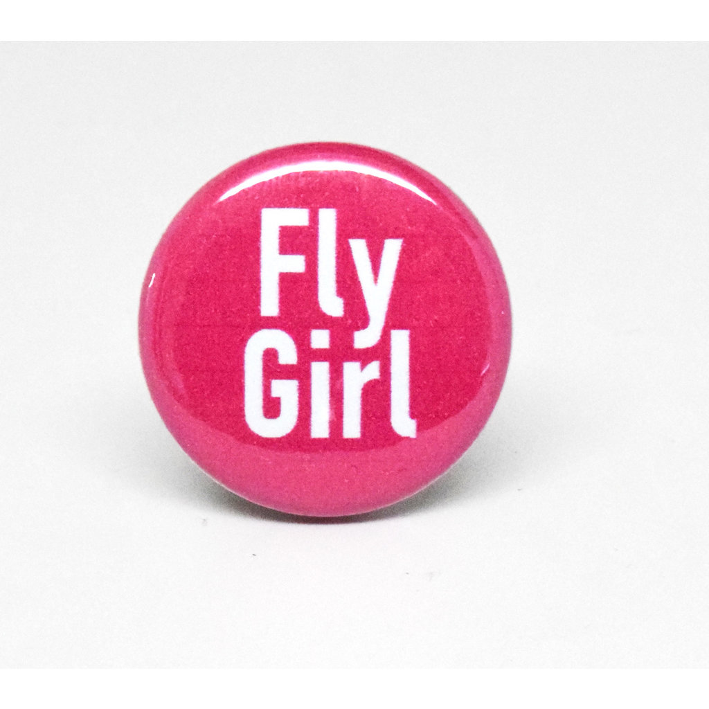 Pinback Button Fly Girl