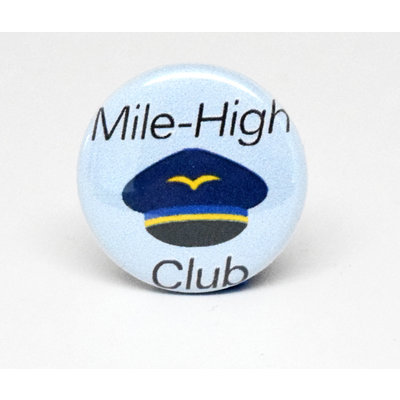 Pinback Button Mile High Club