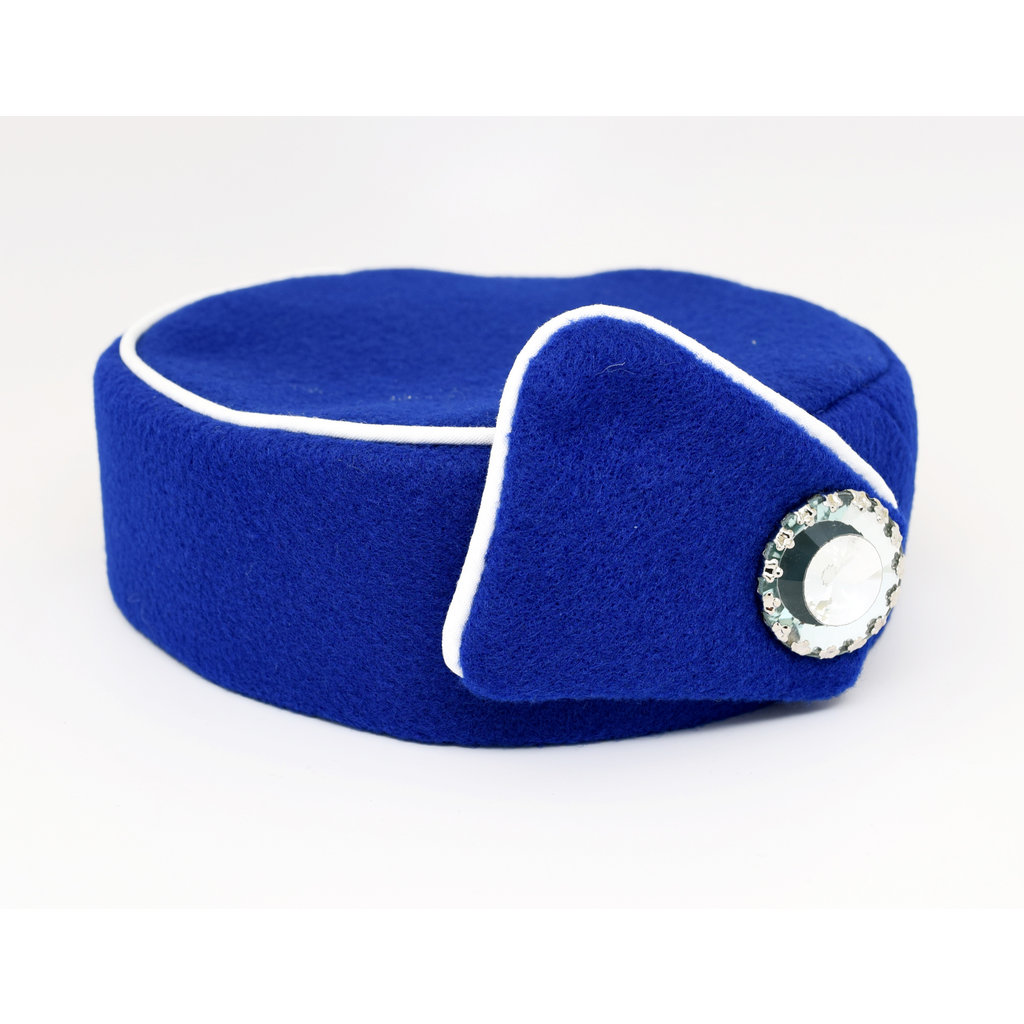 Elite Pill Box Stewardess Hat  Size M Royal Blue