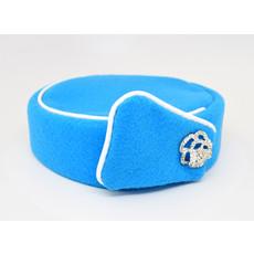 Elite Pill Box Stewardess Hat  Size M Crystal Blue
