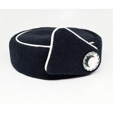 Elite Pill Box Stewardess Hat  Size M Navy