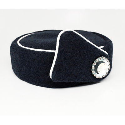 Elite Pill Box Stewardess Hat  Size M Navy