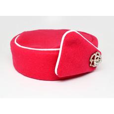 Elite Pill Box Stewardess Hat  Size M Bright Pink