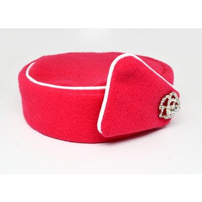 Elite Pill Box Stewardess Hat  Size M Bright Pink