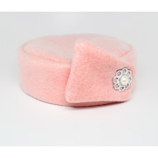 Flight Attendant Pill Box Hat: Size M Light Pink