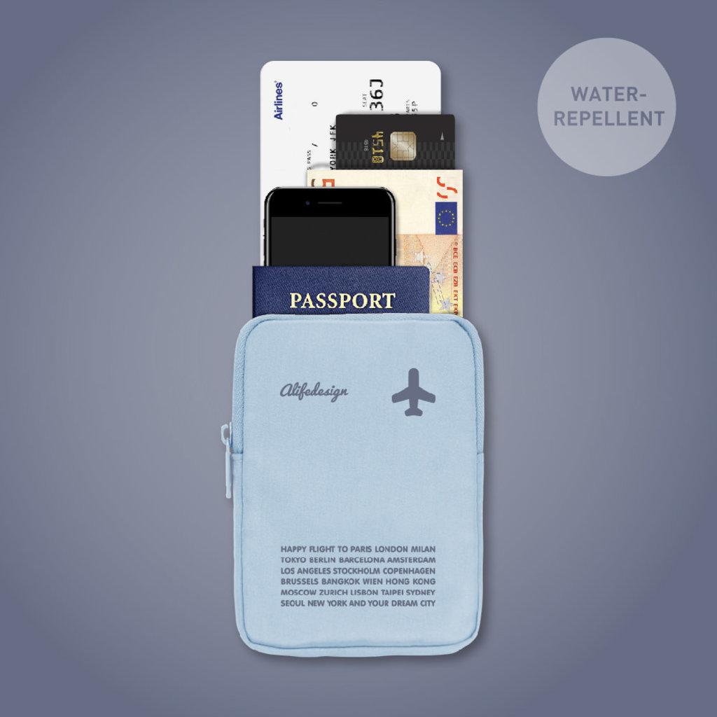 Zipurse-Boarding Pass & Passport Pouch