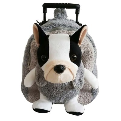 Pug dog Grey Trollie and Backpack