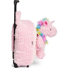 Pink Furry Unicorn Trollie and Backpack