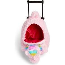 Pink Furry Unicorn Trollie and Backpack