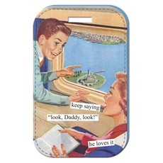 """""""Look, Daddy, look!"""" Luggage Tag"""