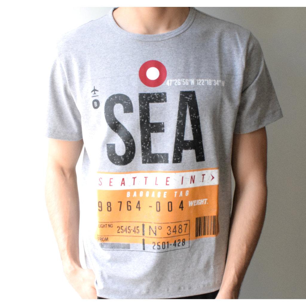 SEA Vintage Baggage Tag T-shirt