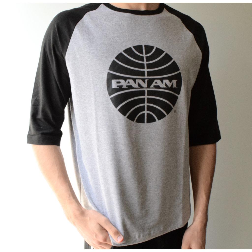 Pan Am Black Globe Baseball T-shirt