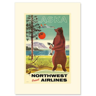 Northwest orient Alaska Greeting Card