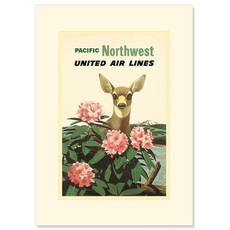 United Airlines Pacific Northwest Greeting Card