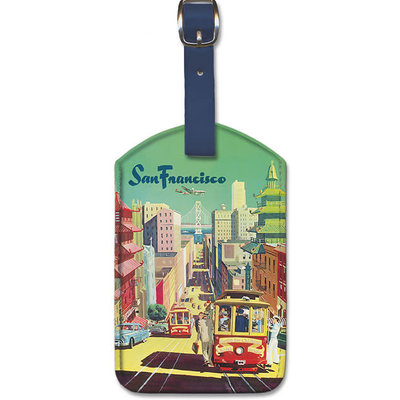 Luggage Tag TWA City View San Francisco