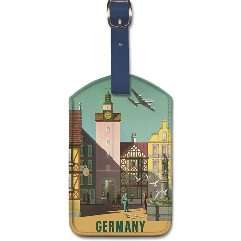 Luggage Tag Fly TWA to Germany