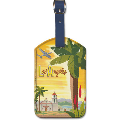 Luggage Tag Fly TWA Palm Los Angeles