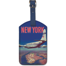 Luggage Tag Pan Am New York by Clipper