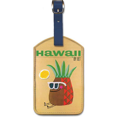 Luggage Tag   Hawaii by Jet Mr. Pinenapple head