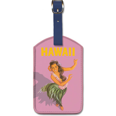 Luggage Tag   Hula Dancer-Hawaii