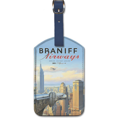 Luggage Tag Braniff Airways Chrysler Building New York