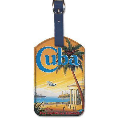 Luggage Tag Pan Am Havana Bay Visit Cuba