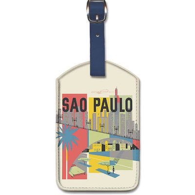 Luggage Tag Braniff Airways Sao Paulo Brazil