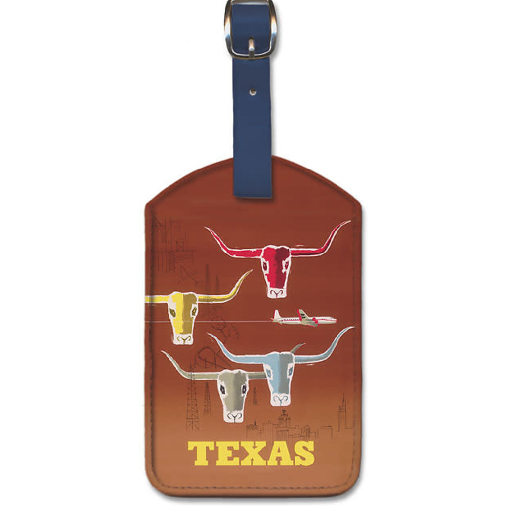 Luggage Tag American Airlines Longhorns Texas