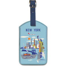 Luggage Tag Northwest Orient Manhattan, NY