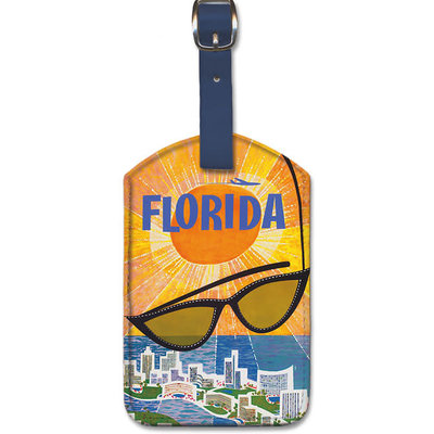 Luggage Tag TWA Sunglasses Florida